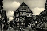 Hessisch Lichtenau Postkarte ~1950/60 Partie in der Landgrafenstraße mit Rathaus