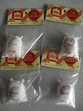 Lot of 4 Dollhouse Accessories- Town Square Miniatures - Sugar Bags Nip