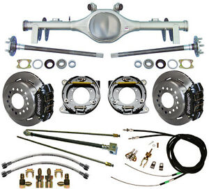 CURRIE 68-72 GM A-BODY REAR END & WILWOOD DISC BRAKES,LINES,E-BRAKE CABLES,AXLES