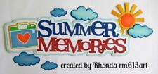 SUMMER MEMORIES title paper piecing for Premade Scrapbook Pages DIE CUT by Rhond