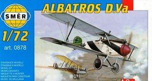 Albatros D.Va, German WW1 Fighter (1/72 model kit, Smer 0878)