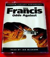 Dick Francis Odds Against 2-Tape Audio Book Ian McShane Horse Racing Thriller