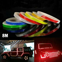 1 Roll Reflective Stickers DIY Safety Reflector Tape For Car Bicycle Cycling