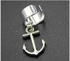 New Silver ANCHOR Ear Cuff Earring Ear Crawler Climber Jewelry Gift Earcuff