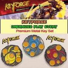KEYFORGE CALL OF THE ARCHONS - Premium Metal Key Set (3) Organized Play Keyforge