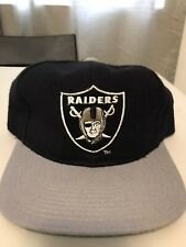 Vintage Starter Los Angeles Oakland Raiders Shield Wool Snapback Wool Hat New