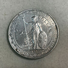 1907 B UK Great Britain Trade Dollar Silver Crown AU