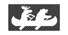 Moose and Bear in a Canoe Funny Decal Window/Car/Truck  *Available 20 COLORS**