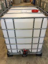 Wassertank 1000l, Kunststoff IBC gereinigt mit Kunststoffunterbau