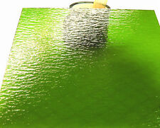 LIME GREEN Rough Roll Transparent Stained Glass SHEET or Mosaic Tiles RARE!