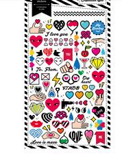 Cute Hearts Paper Stickers Love Letter valentine Scrapbook diary Cardmaking art