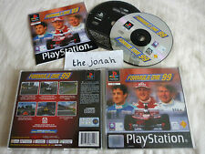 Formula 1 One 99 PS1 (COMPLETE + RARE DEMO) F1 racing PlayStation black label