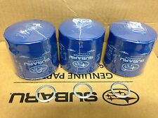 3 pcs Genuine OEM Subaru Oil filter 15208AA12A & Crush washer Impreza WRX Legacy