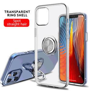 Hülle Für iPhone 13 12 11 Pro MAX XS XR X 8 7 Plus Ring Halt Klar Schutzhüllen