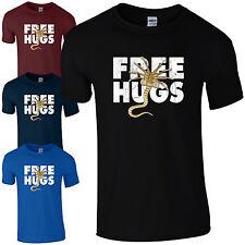 Free Hugs Chest Burster T-Shirt Alien Sci-Fi Covenant Fan Inspired Mens Gift Top