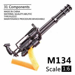 1/6 M134 Minigun Gatling Machine Gun US Army TERMINATOR Toy Gun Assembly Model