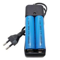 2pcs 18650 High Drain Batterie 2200mAh 3.7V Li-ion Rechargeable&EU Plug Chargeur