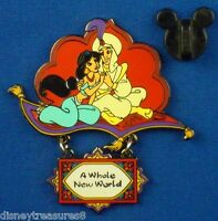 Jasmine & Aladdin A Whole New World Princess Dangle Series Disney Pin # 2329