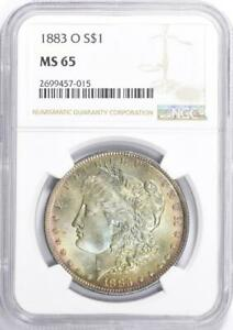 1883-O Morgan Silver Dollar - NGC MS-65 - Mint State 65 - Hints of Rose in Gold