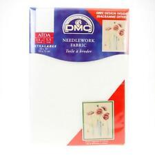 DMC Needlework Cross Stitch Fabric Aida Blanc 14 Count White 50cms X 75cms