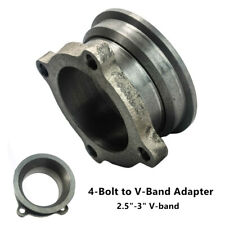 "1PCS 2.5""-3"" Steel Car V-Band Turbo Downpipe 4 Bolt Exhaust Flange Adapter Part"
