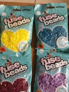 Lot of 19 bags ARTKAL Pearler Beads containing 1000 beads/ea. Assorted colors.