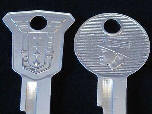 MERCURY OEM KEY BLANK SET 1952-56 NOS Ignition Trunk Vintage Monterey Medalist