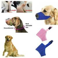 Pet Dog Polyester Mouth Cover Muzzle Adjustable Anti Barking Breathable XS-L
