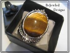 Gemstone Ring Natural Tigers Eye