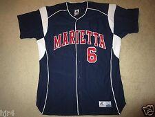 Marietta College Pioneers #6 Baseball Game Worn Jersey LG L