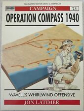 OSPREY CAMPAIGN BOOK No.73 OPERATION COMPASS 1940 Military History WW2