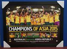 Socceroos 2015 Asia Cup Champions Limited Edition Print Framed Tim Cahill Luongo