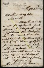 1863 DARLINGTON FORGE CO. HEADED LETTER REGARDING LAND SALE, SIGNED