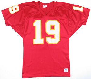 Vintage 90s Joe Montana Kansas City Chiefs Wilson NFL Football Sewn #19 Jersey M