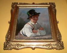 Bildnis eines Buben mit Sichel aus  der Biedermeyerzeit.
