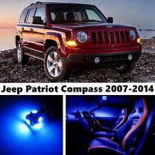 9pcs LED Blue Light Interior Package Kit for Jeep Patriot Compass 2007-2014
