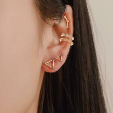 Barbell Studs Helix Tragus Rook Piercing Crystal Ear Cuff Cartilage Earrings Set