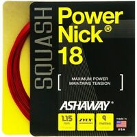 ASHAWAY POWERNICK 18 SQUASH STRING - 1.15MM - ONE 10M SET - RED - RRP £20