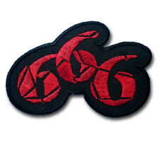 666 Satan Number Patch Embroidered Iron on Beast Occult Biker Goth Badge Race
