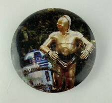 Vintage Star Wars C-3PO R2-D2 Button Pin