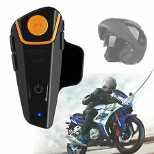 Waterproof BT-S2 1000m Bluetooth Motorcycle Helmet Headset MP3 Intercom A2DP