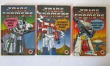 Lot de 3 petit  livres TRANSFORMERS en V.O