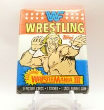 1987 Topps WWF Wrestling Trading Cards Wax Pack