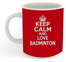 Keep Calm And Love Badminton Mug - Red