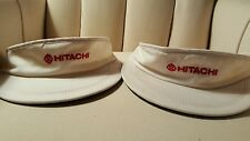 Two Hitachi Electronics Sport Tennis Sun Visor Hat Cap...One of a kind