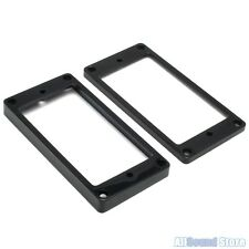 Metal Humbucker Pickup Ring Set SLANTED & FLAT Bottom for Flat Top Guitar -BLACK