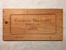 1 Rare Wine Wood Panel Château Trotanoy Pomerol Vintage Crate Box Side 5/18 769