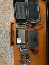 nintendo switch gray With Box 128gb Memory Card Carrying Case