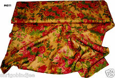 Beautiful Indian Art Silk Fabric Multi Colour Floral Print Selling by Yard 4811
