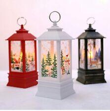 Hanging Lantern Xmas Tree Ornaments Xmas Santa Claus Table Lamp New Year Gift